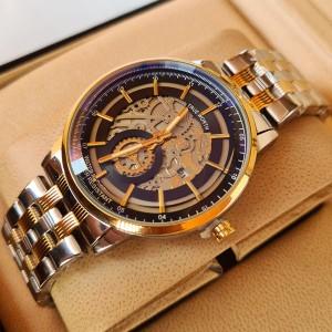 True Worth 2341  Gold & Black  Chain Strap Watch