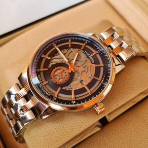 True Worth 2341 Rose Gold & Black  Chain Strap Watch