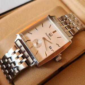 True Worth 3199 Silver & White Chain Strap Watch