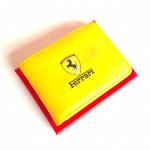 Ferrari AT119 Leather Wallet Yellow Color