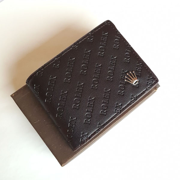 Rolex Leather Wallet Black Color With Box