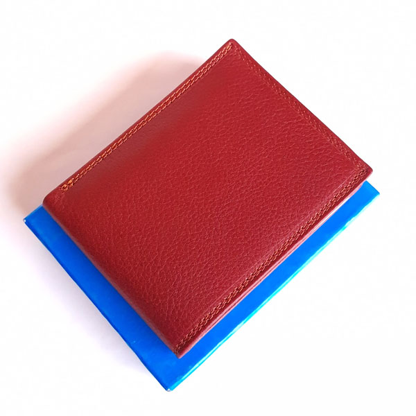 Red WL105 Genuine Leather Wallet