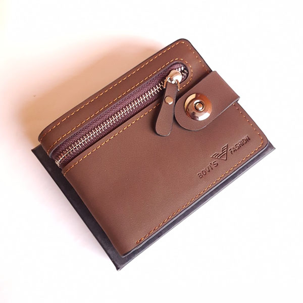 Bovis Brown Color Stylish Wallet With Box