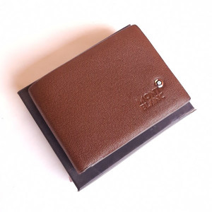 Mont Blanc Brown Color Wallet With Box