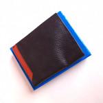 Original Leather Black And Orange Color Wallet