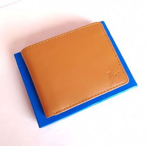 Genuine Leather Mild Brown Color AT Brand Wallet