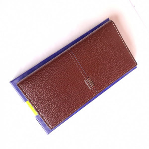 Bovis Long Wallet Brown Color With Box